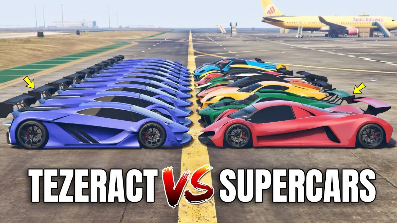 GTA 5 Online TEZERACT VS 10 FASTEST SUPERCARS (WHICH IS