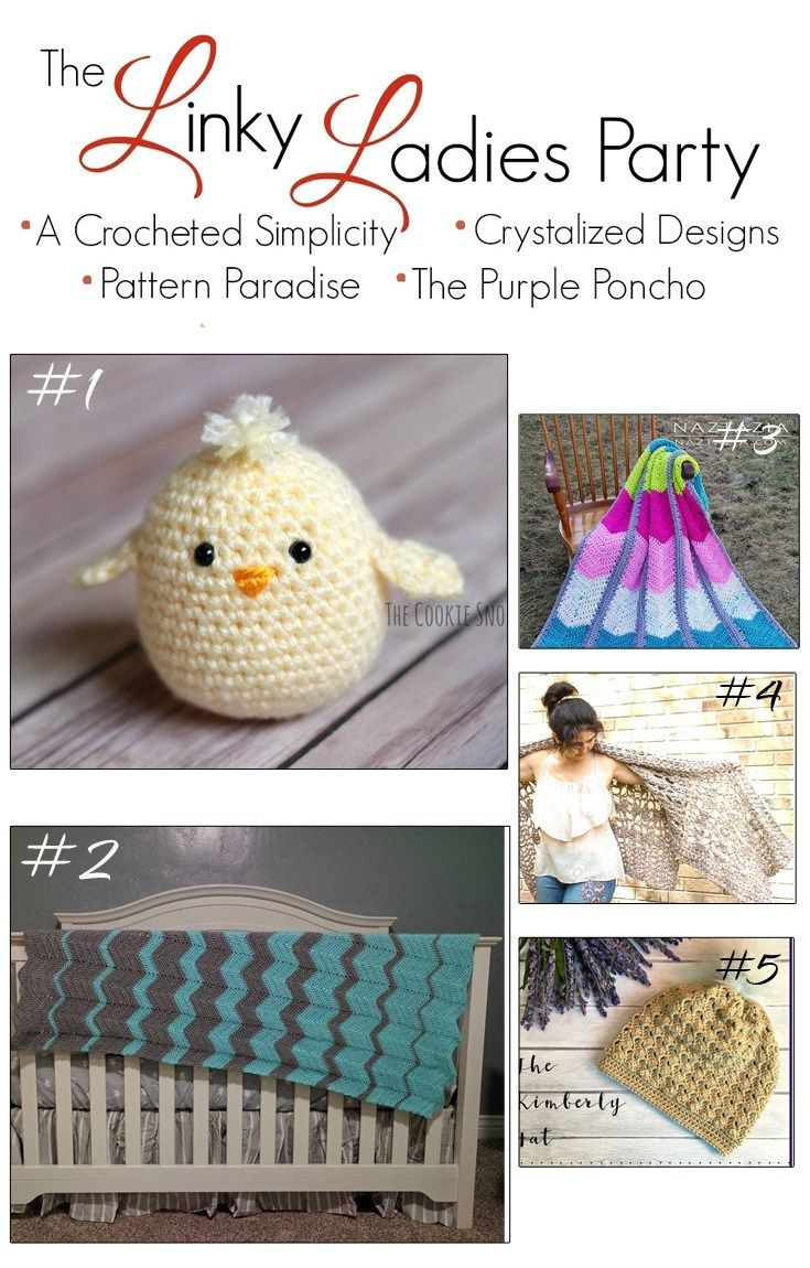 The Linky Ladies Party #128 on The Purple Poncho! This is a fiber arts bi-weekly community party and is live from Tuesday at 12:00 am, ending on Saturday at 12:00 pm (PST). Show off your talent by linking up your finished knit and crochet projects! The five most popular links will be featured and shared on my social media.