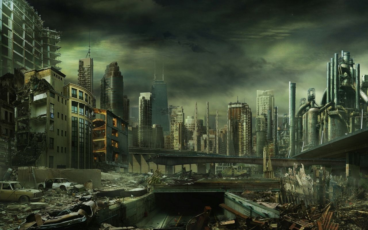 City in Ruin | Post apocalyptic city, Post apocalyptic, Futuristic ...