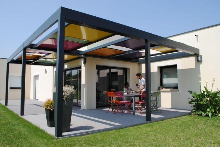 Relativ Überdachung mit farbigen bunten Paneelen aus Kunststoff | Garten  AY22