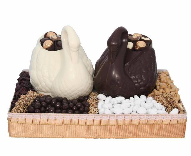 Double Chocolate Swan Gift Basket $149.95