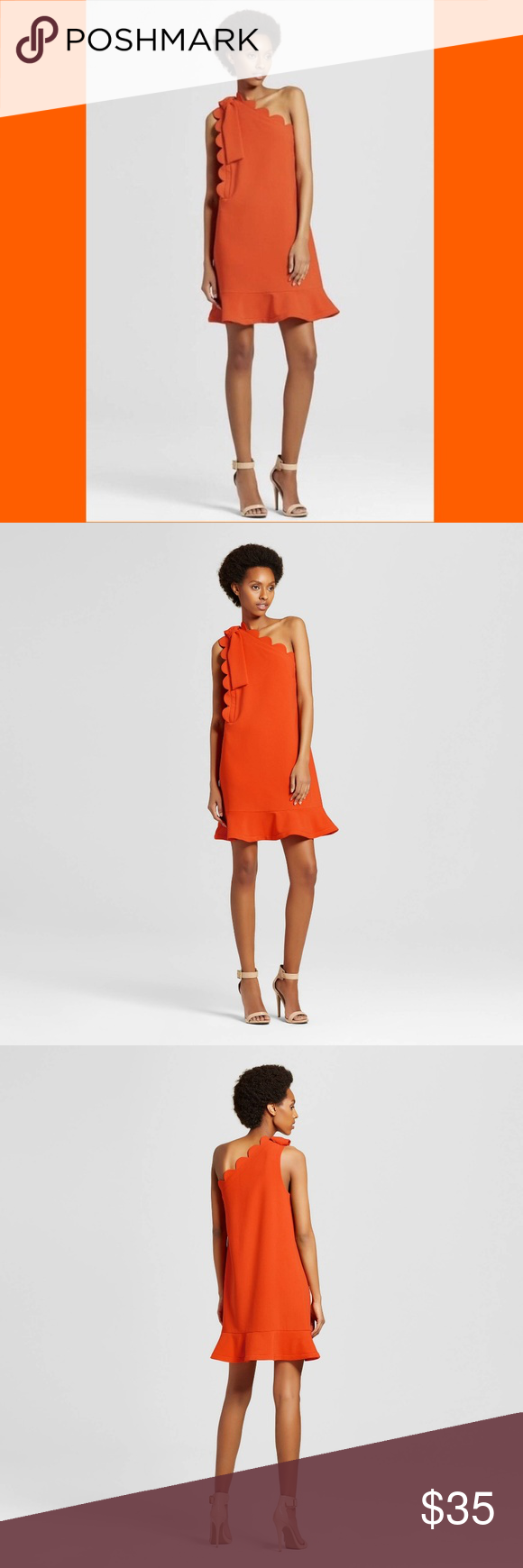 Victoria Beckham Target Orange Dress Various Sizes Nwt Chic Summer Dresses Necklines For Dresses Clothes For Women In 30 S [ 1740 x 580 Pixel ]