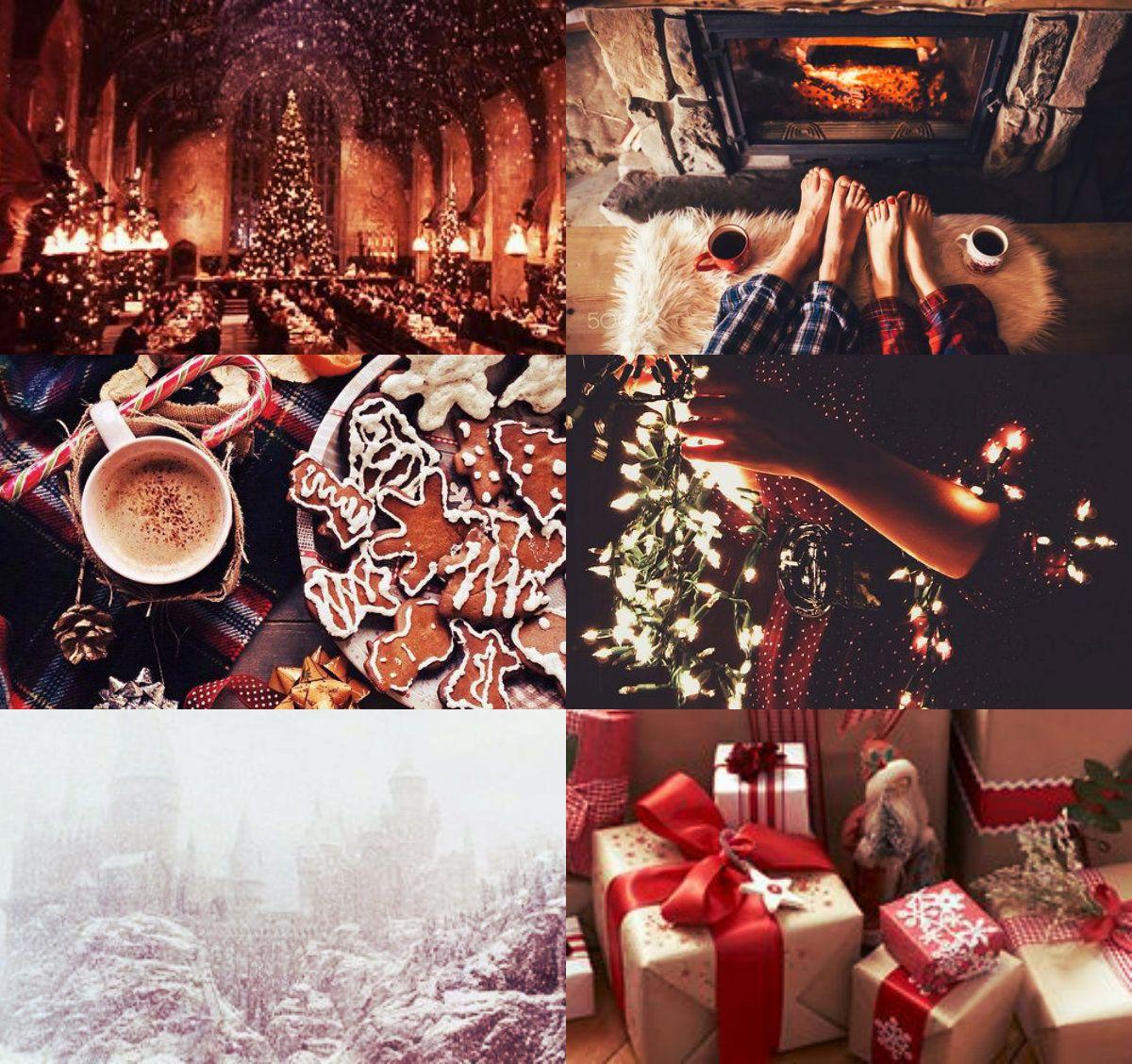 Christmas Wallpaper Aesthetic: Harry Potter Aesthetics: Gryffindor Winter/christmas 2/2