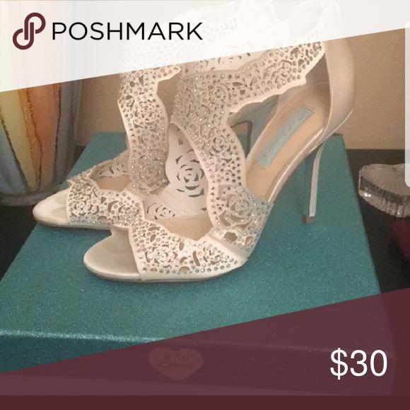 14d97ee65e2 Betsy Johnson bridal heels