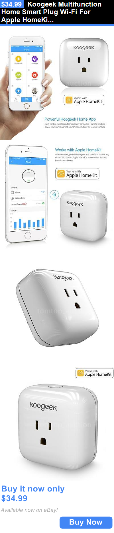 Controls and Touchscreens: Koogeek Multifunction Home Smart Plug Wi-Fi For Apple Homekit Siri Control BUY IT NOW ONLY: $34.99