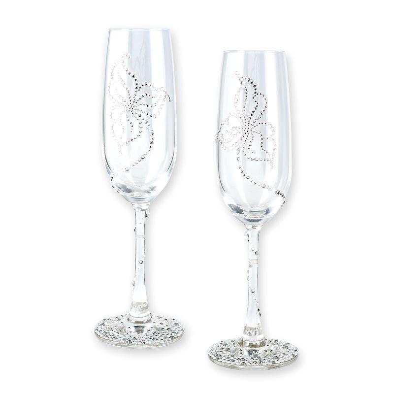 Glitz Crystal Wedding Champagne Glass Flute Crystal