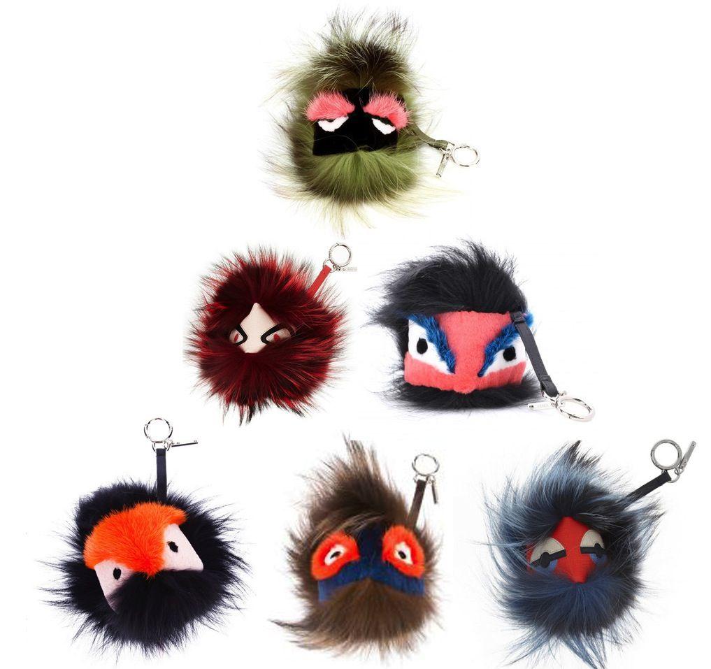 P.S. We Love  Fendi Fur Monster Keyrings  7b801ee26a18d
