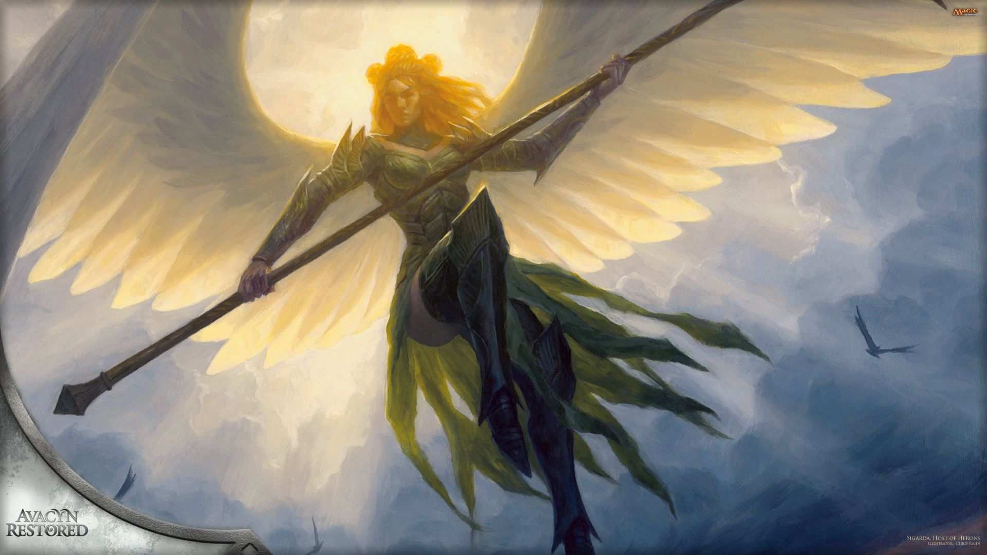 Angel Warrior Wallpaper Mtg Art Heron Art Winged People
