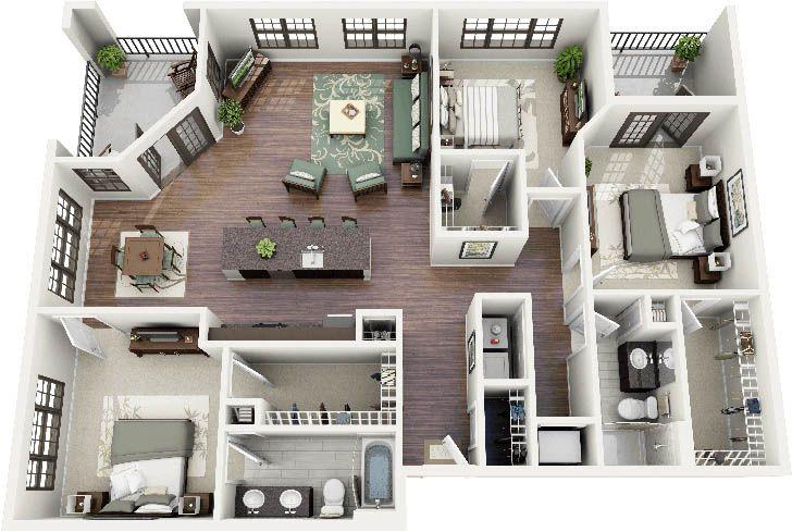 Simple 2 Bedroom House Designs Interesting แปลนบ้านสามห้องนอน  บ้าน  Pinterest  House Future And Tiny Houses Design Inspiration