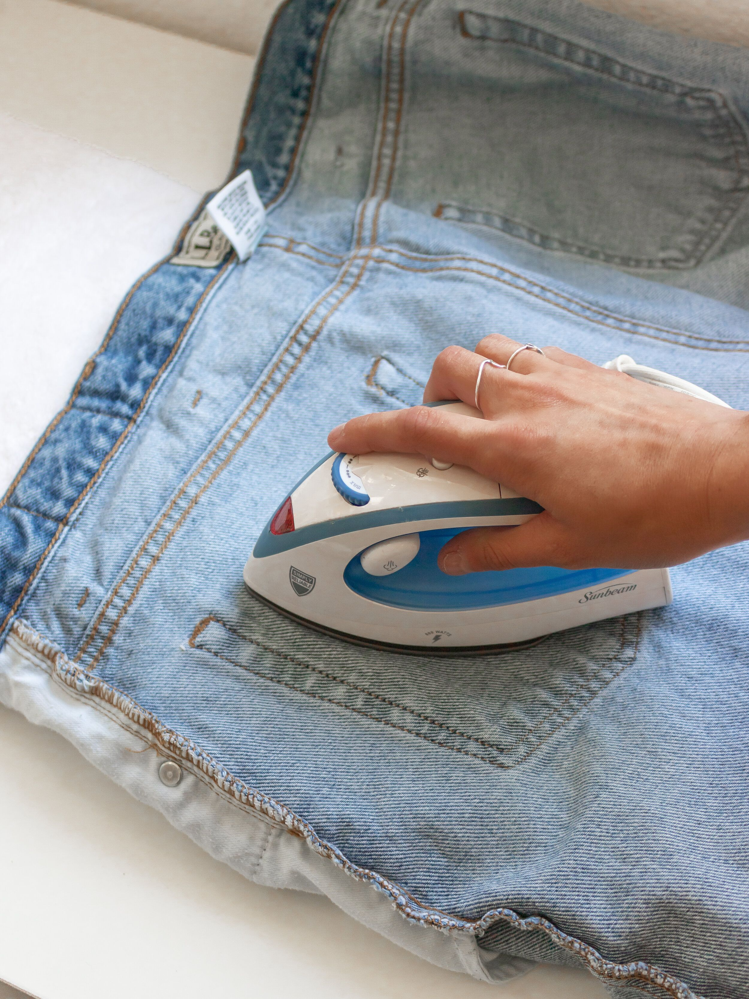 Denim painting 101 how to heatset painted jeans denim