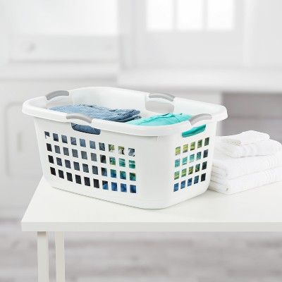 Sterilite 2 Bushel Capacity Single Laundry Basket White Room Essentials In 2019 Laundry Basket Laundry Basket