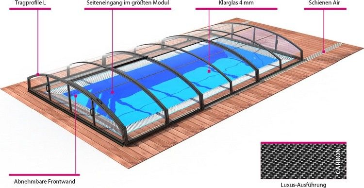 PoolKomplettset Albixon Quattro A Infinity Pool