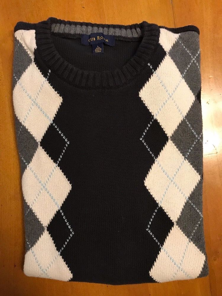 cecb145b6c3b Men's Argyle Sweater Crew-Neck Men's Size Large Club Room Brand Used  #fashion #clothing #shoes #accessories #mensclothing #sweaters (ebay link)