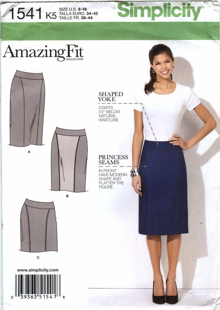 Simplicity 1541 Misses\'/Misses\' Petite Skirt in Three Lengths ...