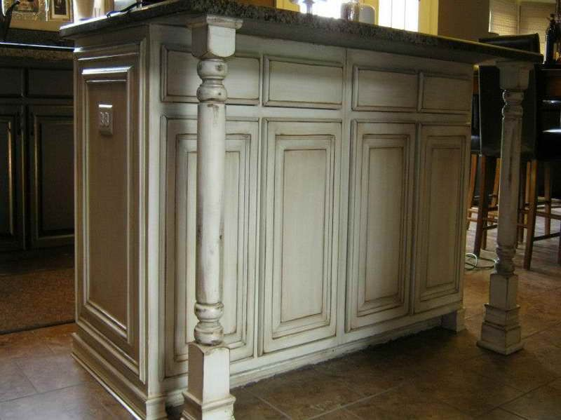 distressed white kitchen cabinets | Best Pictures of Distressed Kitchen  Cabinets and Steps to Install with