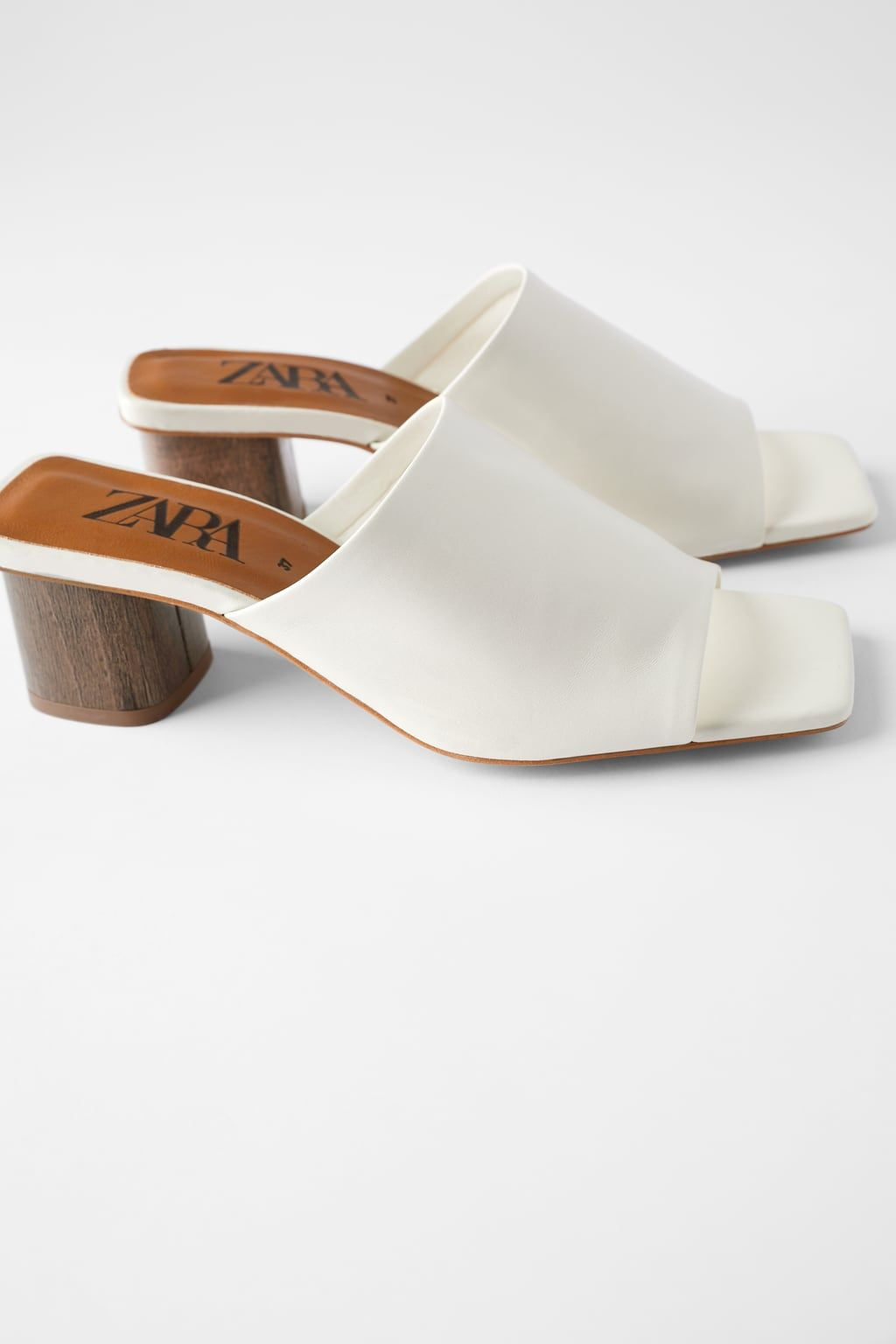 LEATHER HIGH-HEEL MULES-View all-SHOES