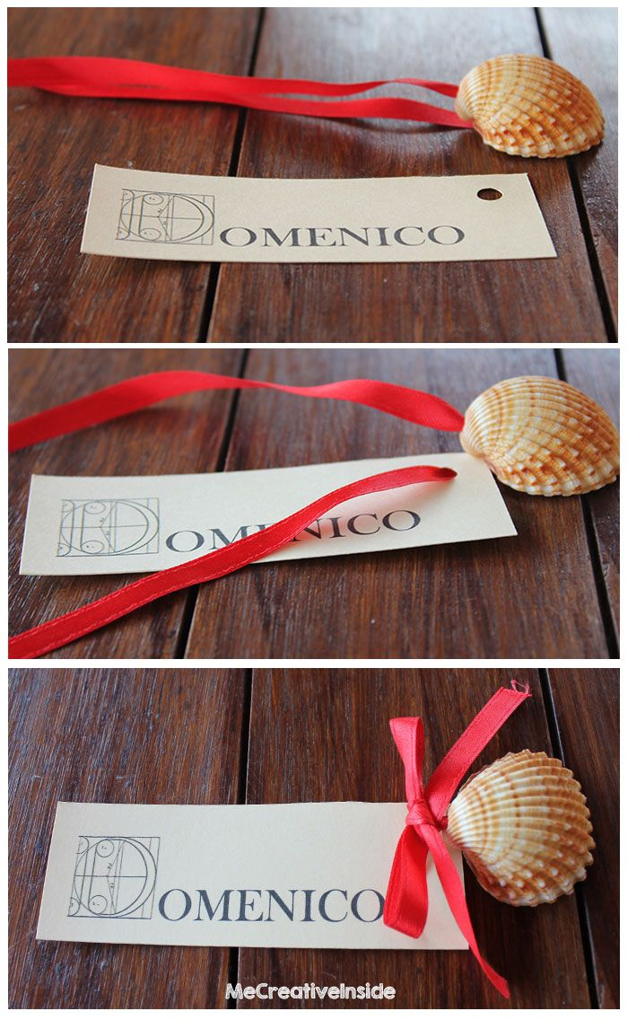 tutorial diy segnaposto estivo con conchiglia laurea placeholder with shell ME creativeinside