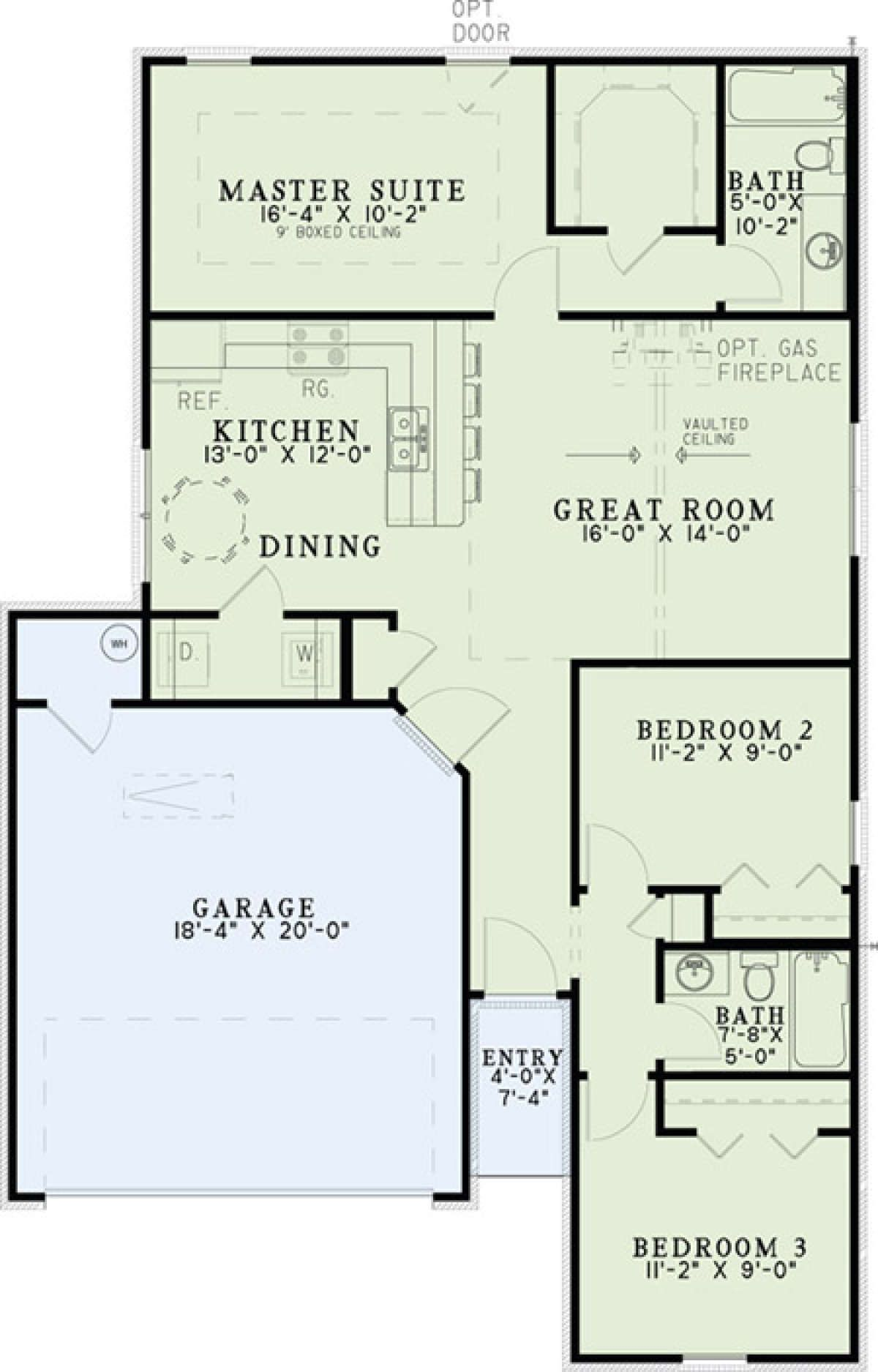 House Plan 110 01005 Narrow Lot Plan 1 169 Square Feet 3 Bedrooms 2 Bathrooms Cottage Style House Plans Pole Barn House Plans House Floor Plans