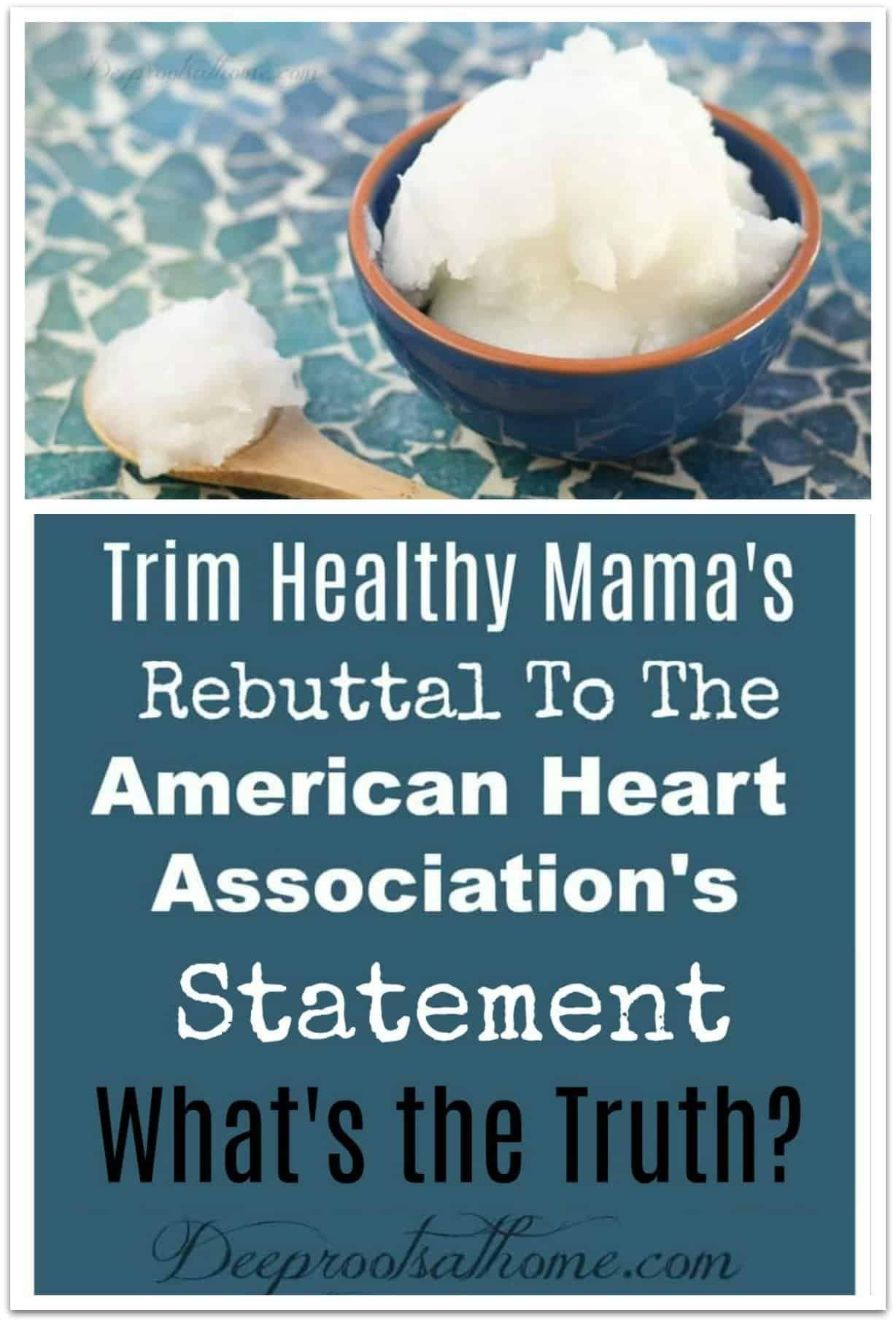 Trim Healthy Mama vs American Heart Association On Coconut