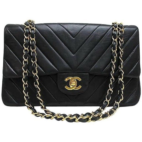 048b0edc69 Preowned Vintage Chanel Classic Double Flap 2.55 Chain Shoulder Bag... (25  185