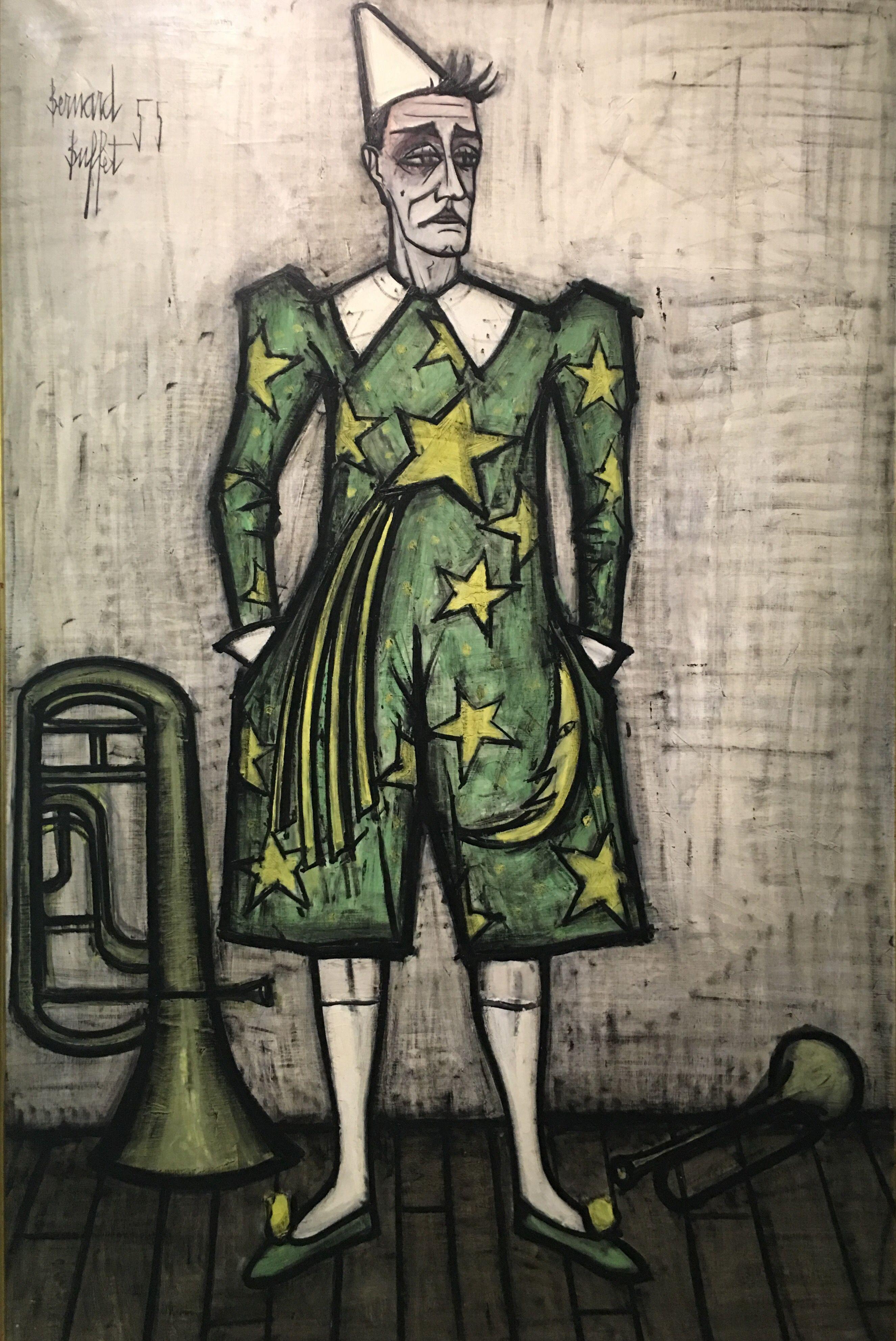 Bernard Buffet - Standing Clown in Green, 1955