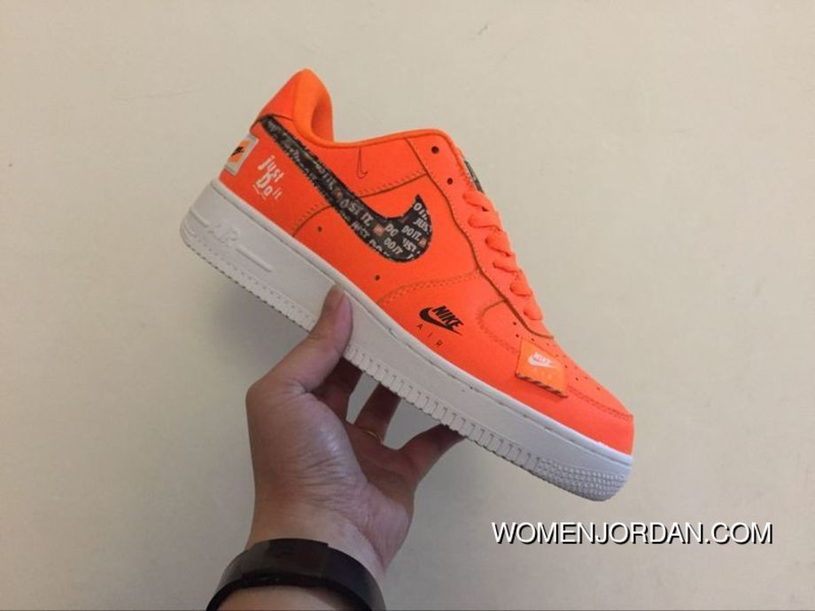 Nike Air Force 1 Low Version Just Do It 905345 800 Orange Color