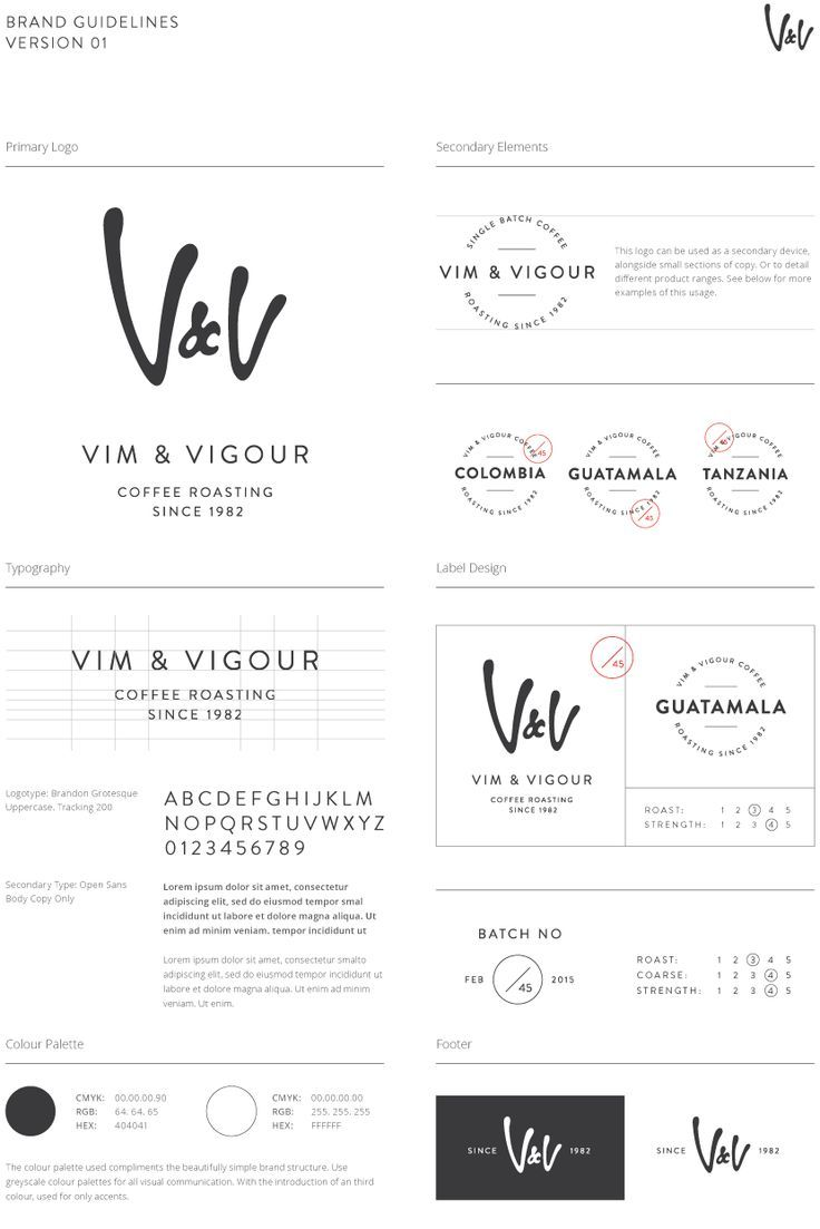 Vim & Vigour - Coffee Roasting #Branding #Coffee #Graphic #Design #Logo