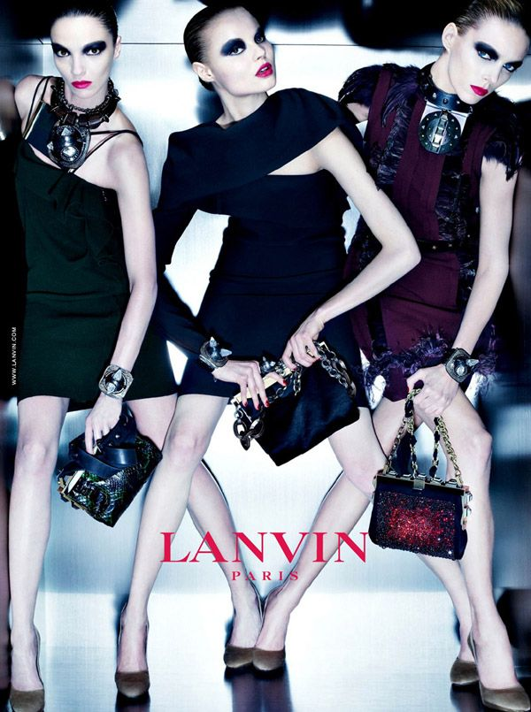 lanvincampaign Lanvin Fall 2010 Campaign | Mariacarla, Anja & Magdalena by Steven Meisel