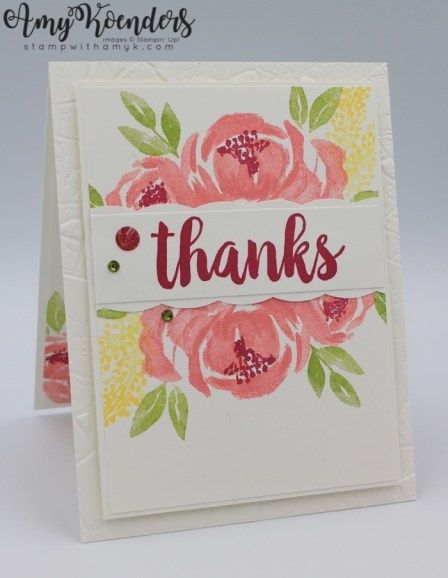 Stampin' Up! Beautiful Friendship With Seriously The Best Thank You Card