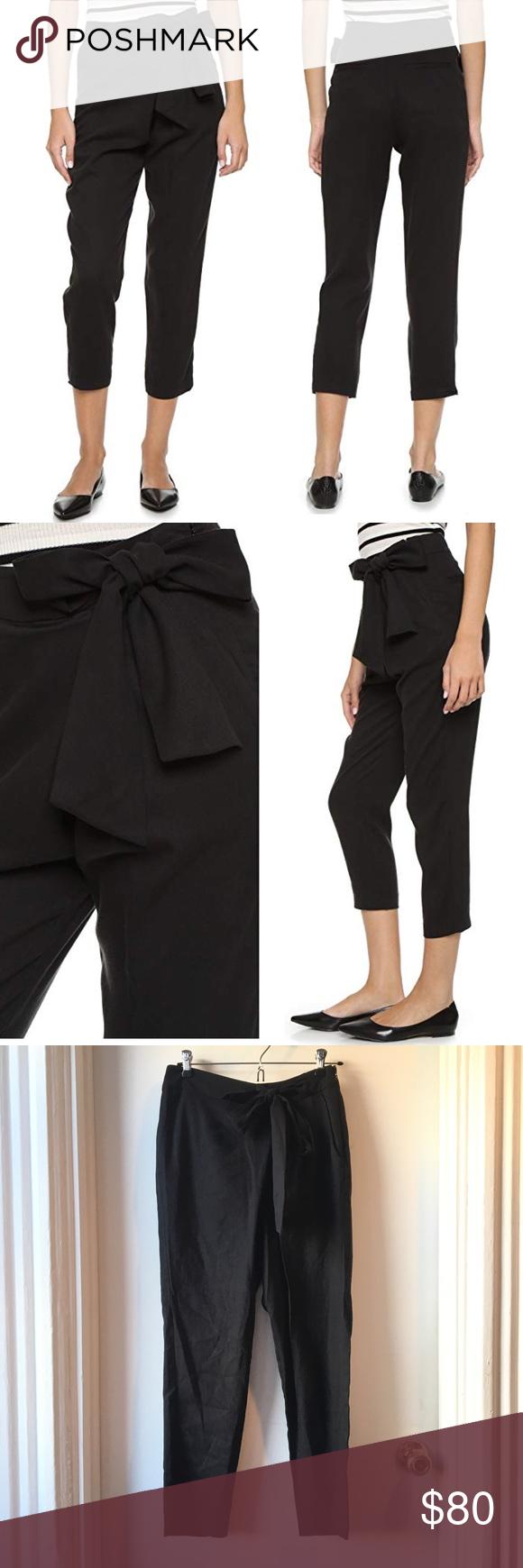 Ella Moss Black Elastic Waist Tie Sash Detail Casual Shorts Size Medium Women's Clothing