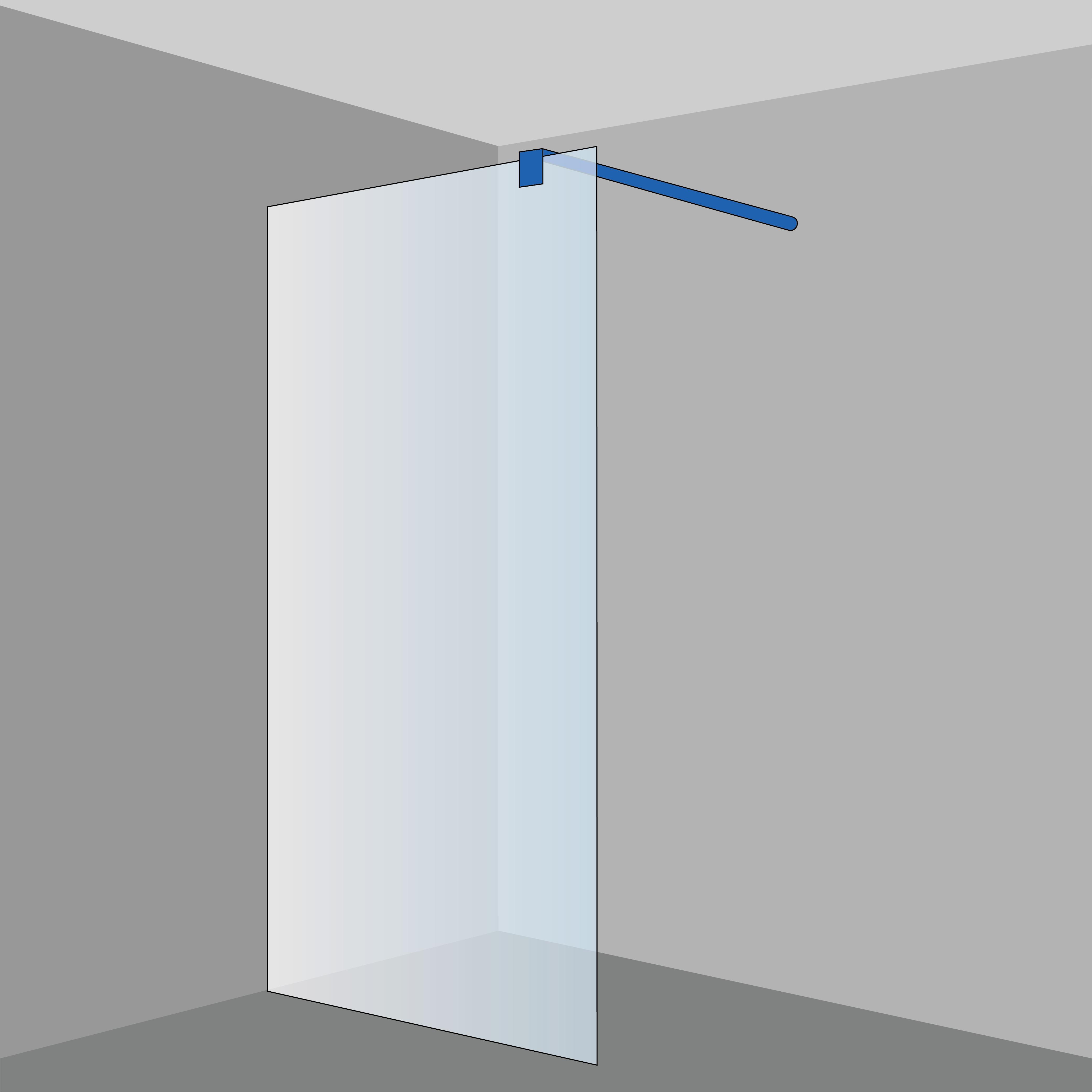 saniclass vienna inloopdouche bestaande uit 2x vaste wand