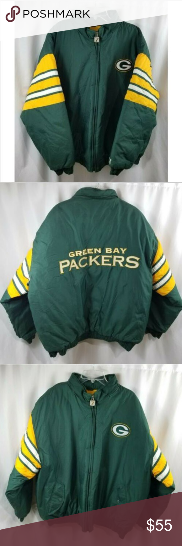 Greenbay Packers NFL Mens 2XL Jacket Logo7 Winter