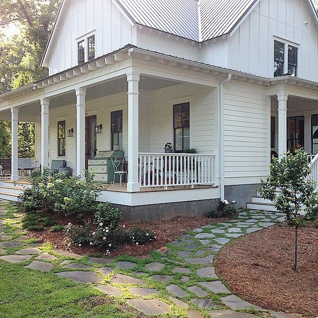 Covered Walkway Designs For Homes: Farm House With Flagstone Walk - Google Search