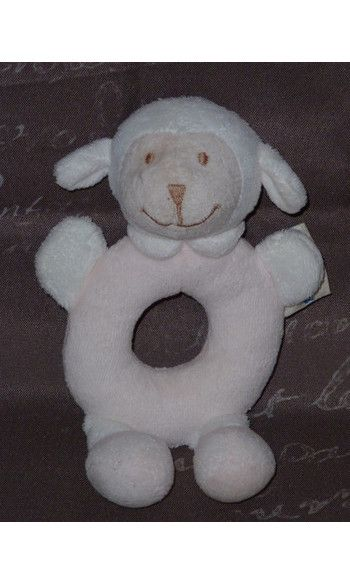 hochet bout'chou mouton agneau monoprix  www.doudoupeluche.fr