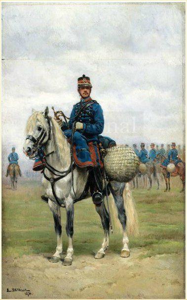 A Trumpeter on Horseback, 1884