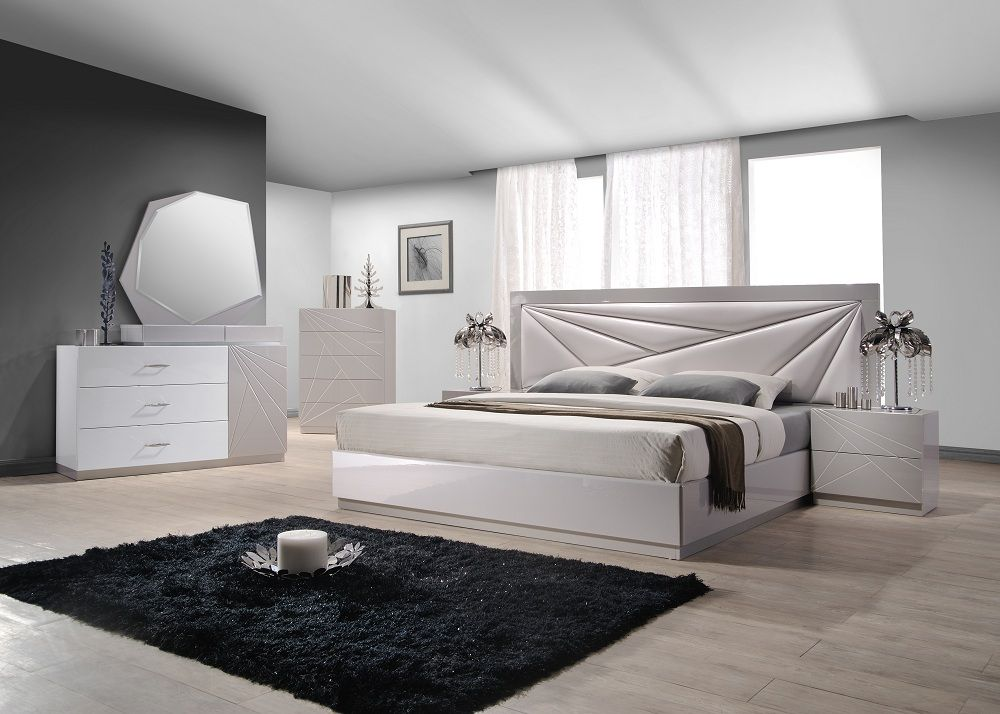 Contemporary furniture Florence Bedroom Set in Taupe