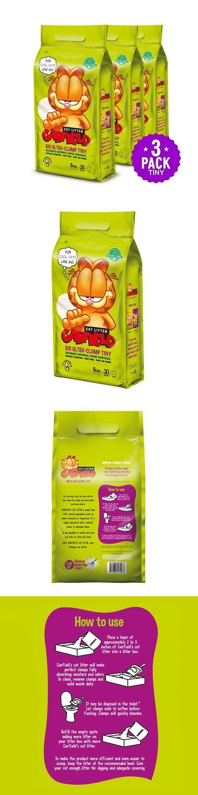 Litter 116363 Garfield Cat Litter All Natural Fast Clumping Purrfect For Multi Cat Homes Buy It Now Only 22 4 On Eb Cat Litter Garfield Cat Garfield