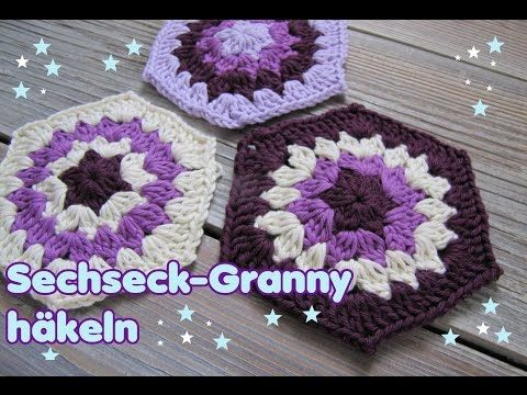 Hexagon / Sechseck Granny häkeln - YouTube | häkeln | Pinterest ...