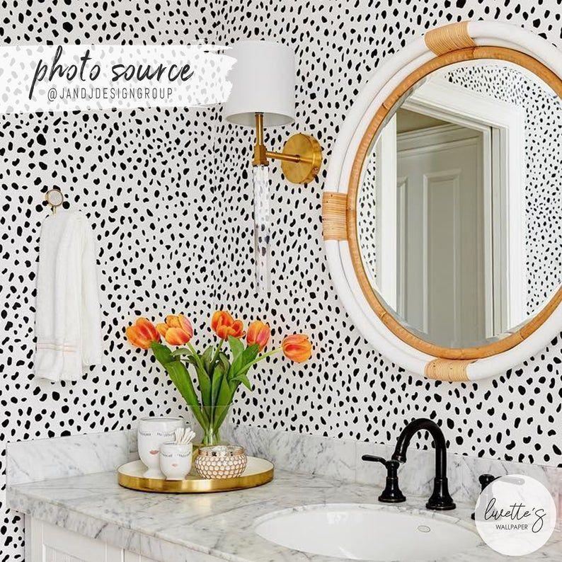 Dalmatian pattern wallpaper Trendy Animal Print   Etsy ...