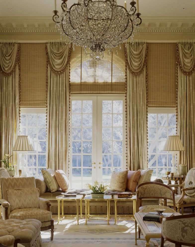 High Ceiling Living Room Hang Curtains Make Look Ger Decorating Louis French
