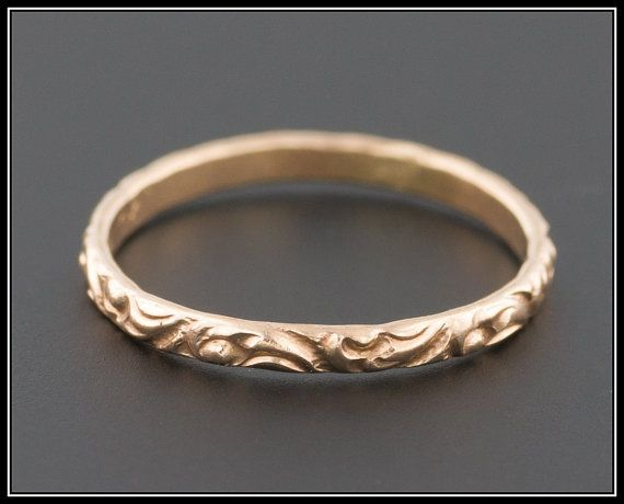 Antique Victorian 10k Gold Baby Ring Perfect by TrademarkAntiques