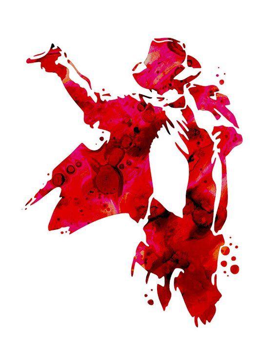 Michael Jackson print, Michael Jackson art print, Michael Jackson silhouette, music, Michael Jackson painting print #michaeljackson