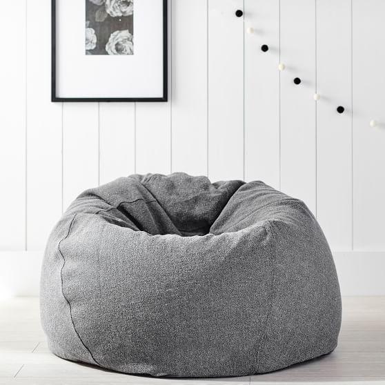 Tweed Beanbag Pbteen Bean Bag Chair Brown Leather