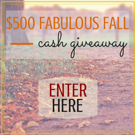 Fabulous Fall Cash Giveaway! #Enter for your chance to win $500 in Paypal cash! Get your #PSL on, buy those boots!