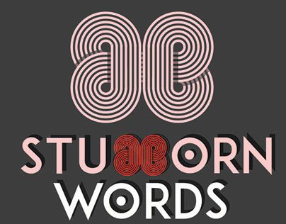 """Check out new work on my @Behance portfolio: """"Stubborn Words"""" http://be.net/gallery/53362477/Stubborn-Words"""