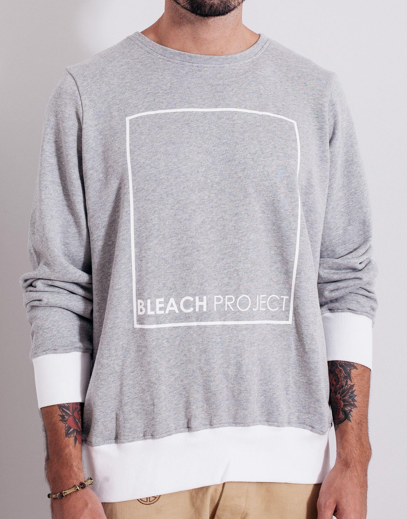 Bleach bp square sweater grey grey sweater sweaters