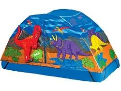 Dinosaur tent that fits over a normal single bed. Pinned for Kidfolio the parenting  sc 1 st  Pinterest & Dinosaur tent that fits over a normal single bed. Pinned for ...