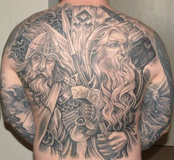 odin and thor norse mythology viking vikings tattoo. Black Bedroom Furniture Sets. Home Design Ideas
