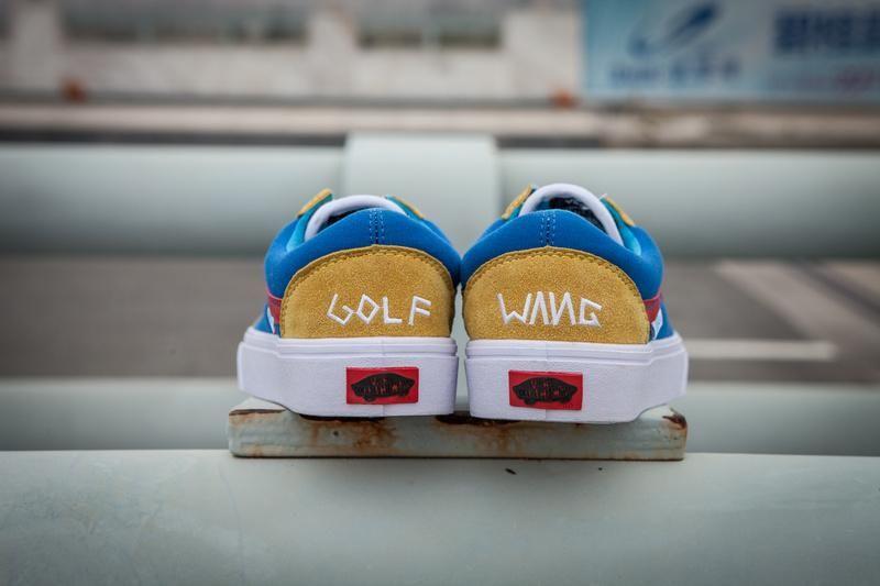 018d03b4d371 Vans GOLF WANG Old Skool Pro Classic Yellow True White Blue Womens Shoes   Vans