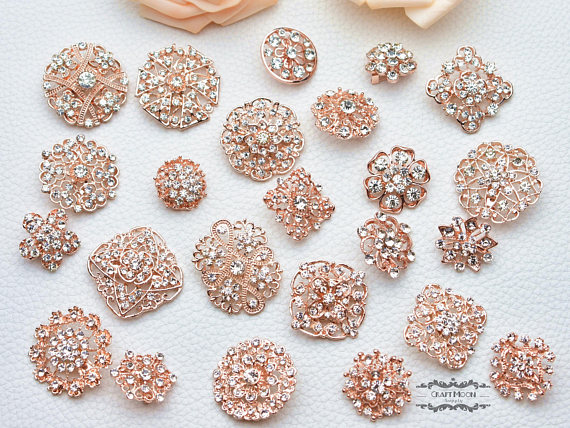 10 Pearl Wedding Diamond Button Decorative Rhinestone DIY Hair Flower Center